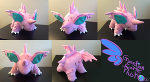 Nidorino Pokemon Plush! 9'' tall 14'' long! by GuardianEarthPlush
