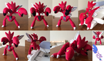 Scizor Pokemon Plush ! 13'' Completely Poseable!