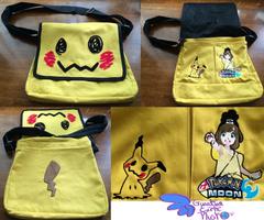 Pokemon Mimikyu Messenger Bag 15'' x 13'' by GuardianEarthPlush