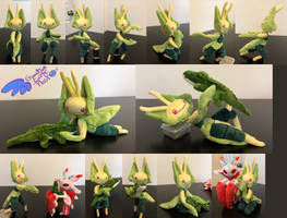 Leavanny 12'' Pokemon Plush Poseable SOLD Alt by GuardianEarthPlush