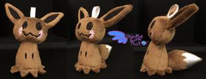Pokemon Eevee Mimikyu Plush Keychain Size by GuardianEarthPlush