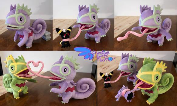 Purple Kecleon 13'' Pokemon Plush Poeseable!