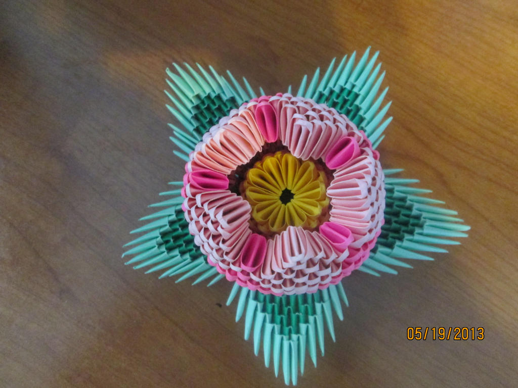 3d Origami Lotus Flower by SmileVeryOften on DeviantArt - photo#2
