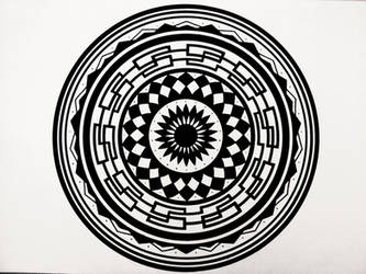 Sacred Mandala by VessART