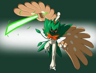 Decidueye - Leaf Blade by cotton-bird