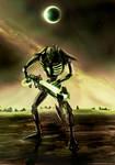 Necron Warrior A4 poster