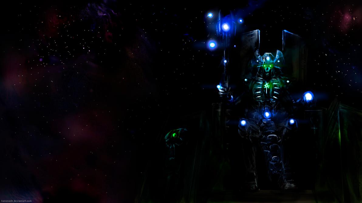 Warhammer 40,000 - Necron Overlord by KaneNash