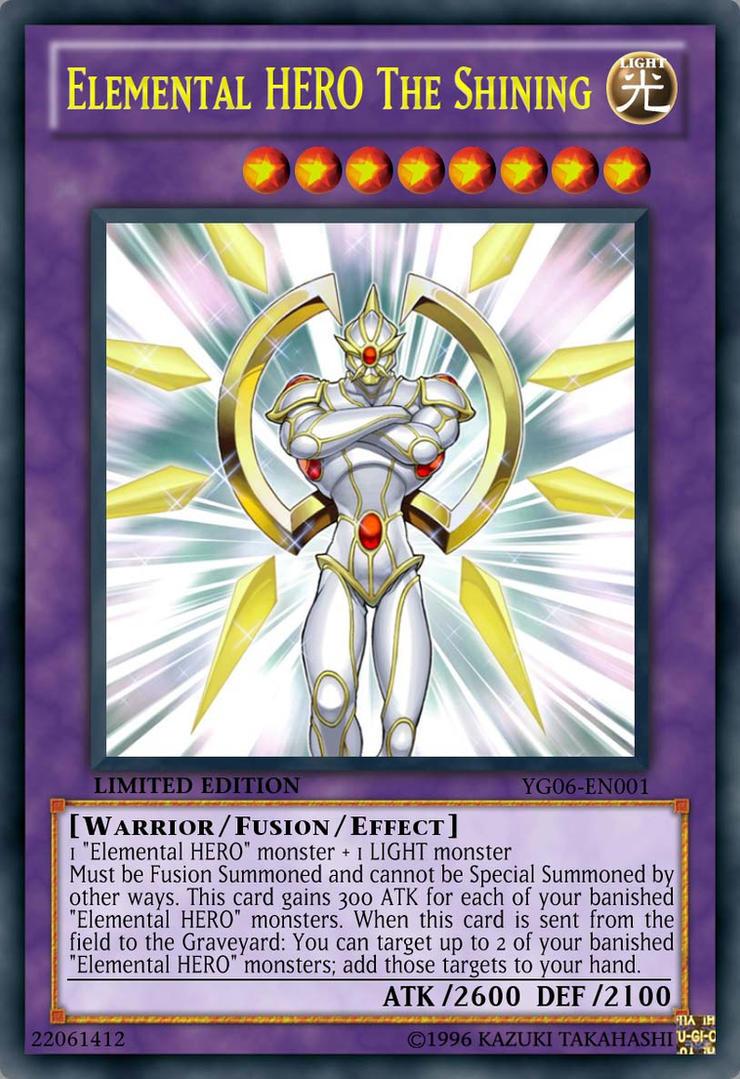 Elemental HERO The Shining by Kai1411 on deviantARTElemental Hero The Shining Orica