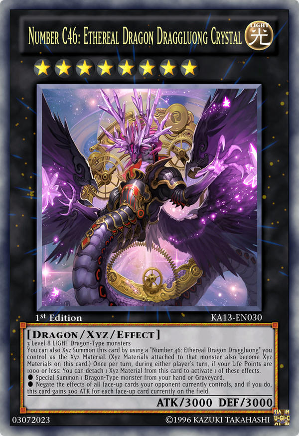Number C46: Ethereal Dragon Draggluong Crystal by Kai1411 ... Number C Yugioh