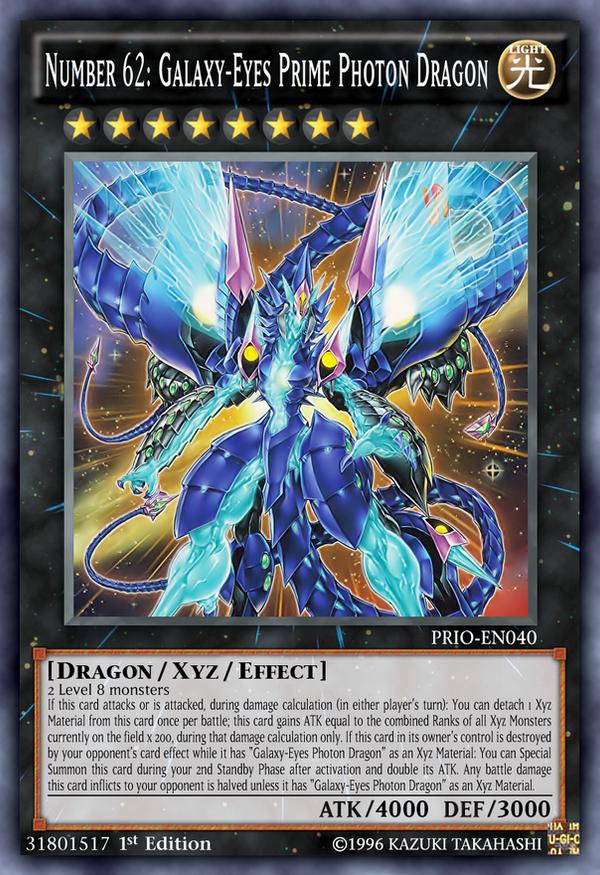 Number 62: Galaxy-Eyes Prime Photon Dragon by Kai1411