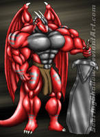 Red Swordsman by SoaringShadow