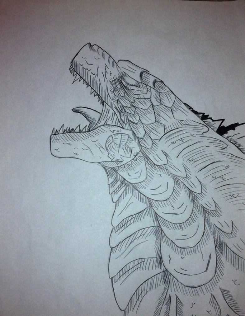 Line Art How To : Godzilla line drawing by svod on deviantart