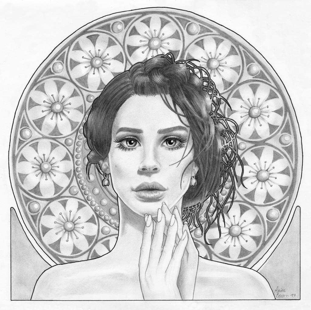 Art Nouveau Lana Del Rey By Sail0rsandy On Deviantart