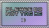 please do not tag me stamp