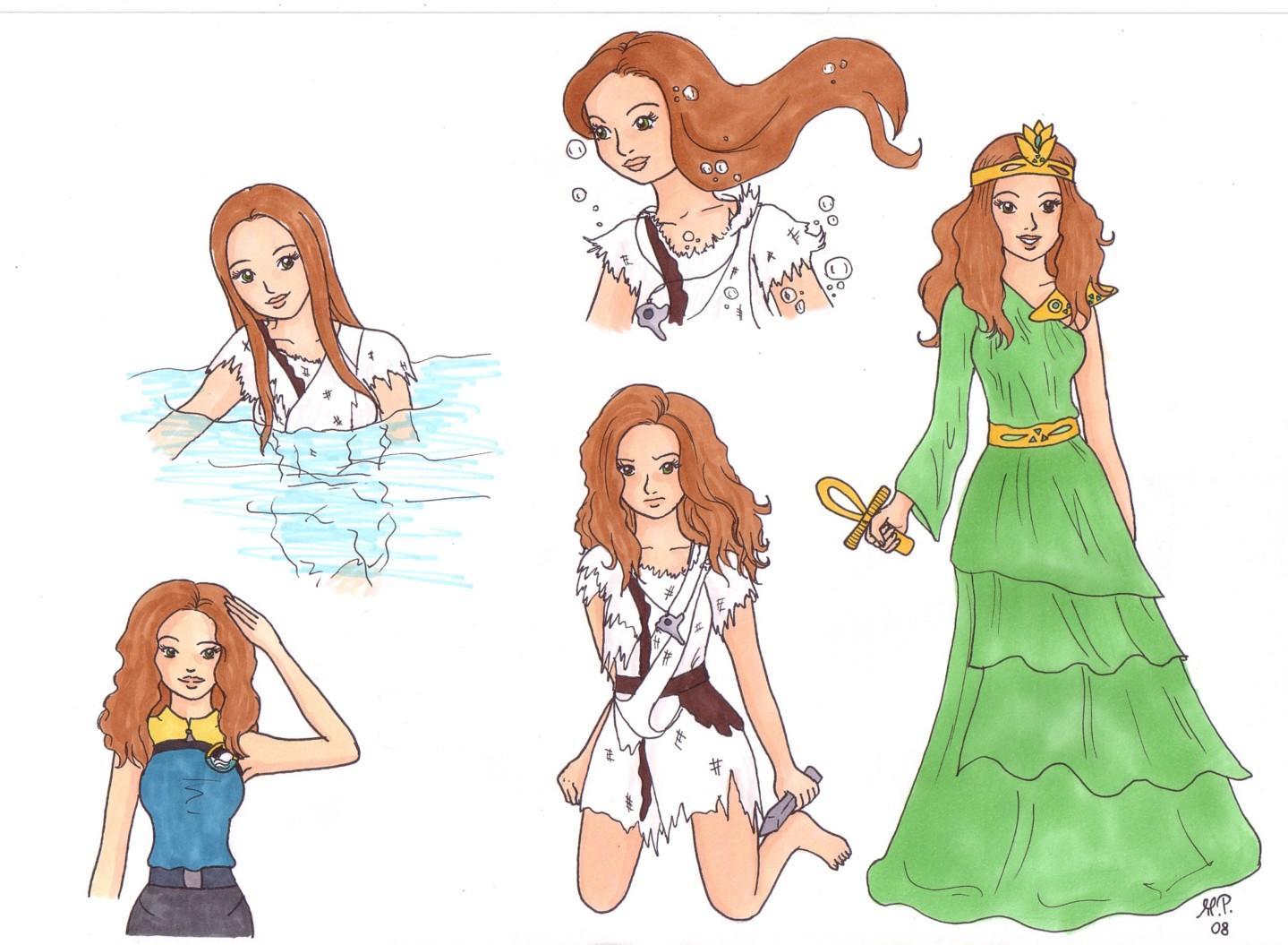 Ocean Girl - Neri Doodles