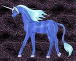 Mystic, the blue Unicorn