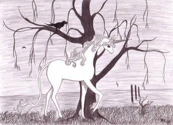 The last Unicorn - Solitude by Neri-chan