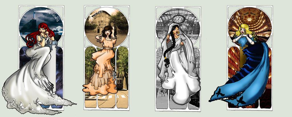 Four Zafon Girls by Biby95