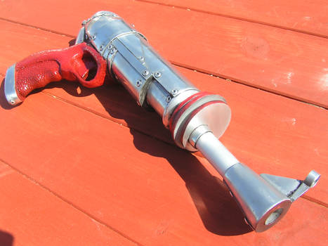 a commissioned ray gun prop