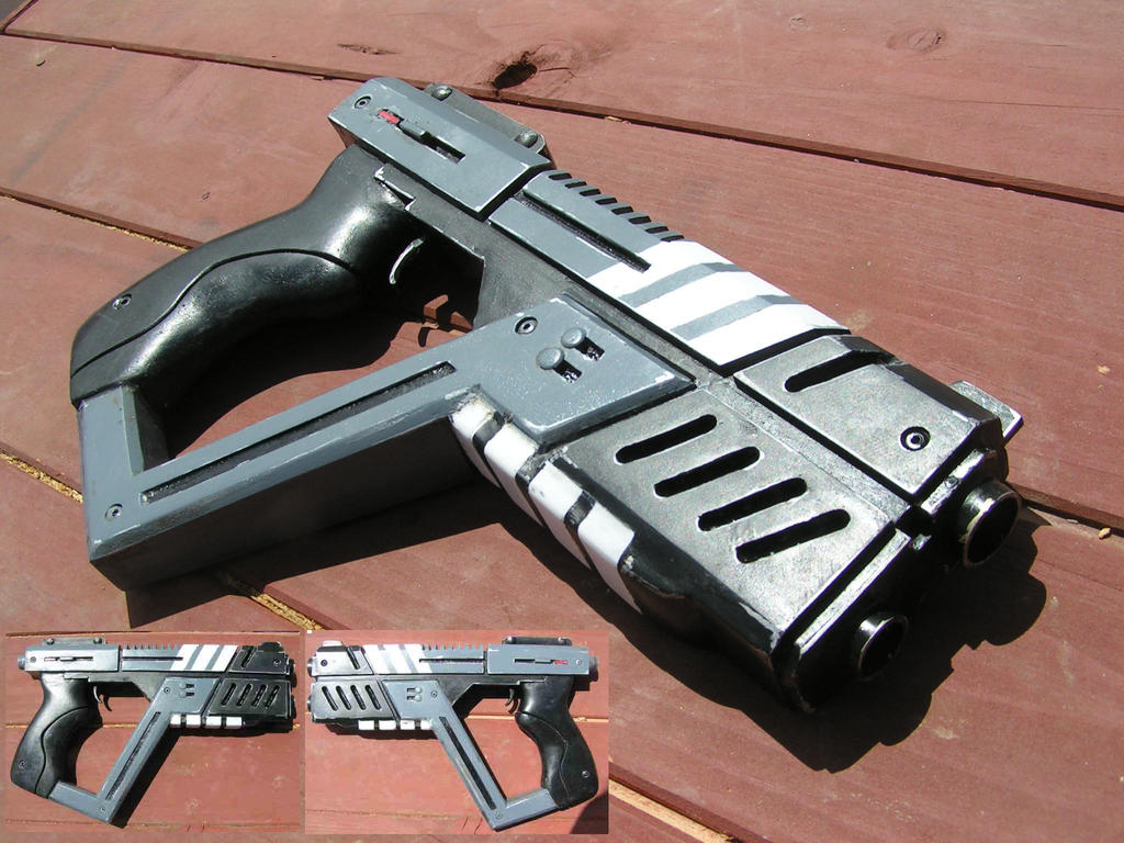 mass effect  commissioned shuriken pistol prop by faustus70