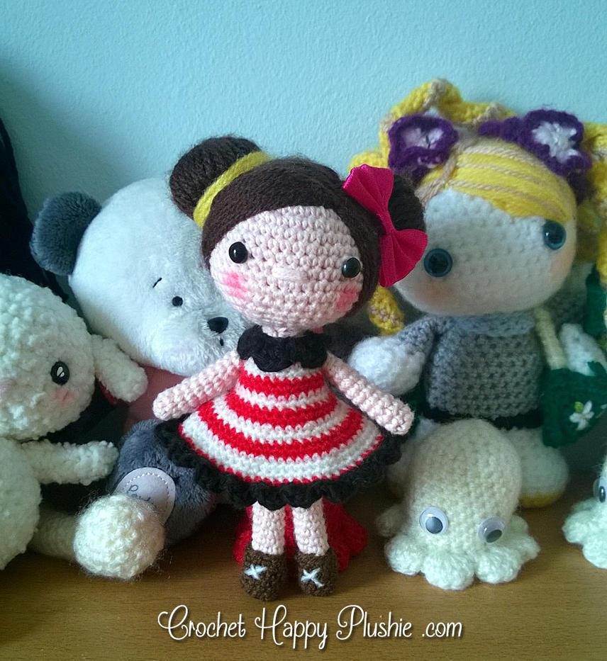 Cute amigurumi doll in red dress by Shia-Amigurumi on ...