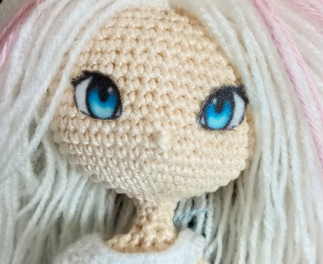 Amigurumi anime eyes on cotton by Shia-Amigurumi on DeviantArt