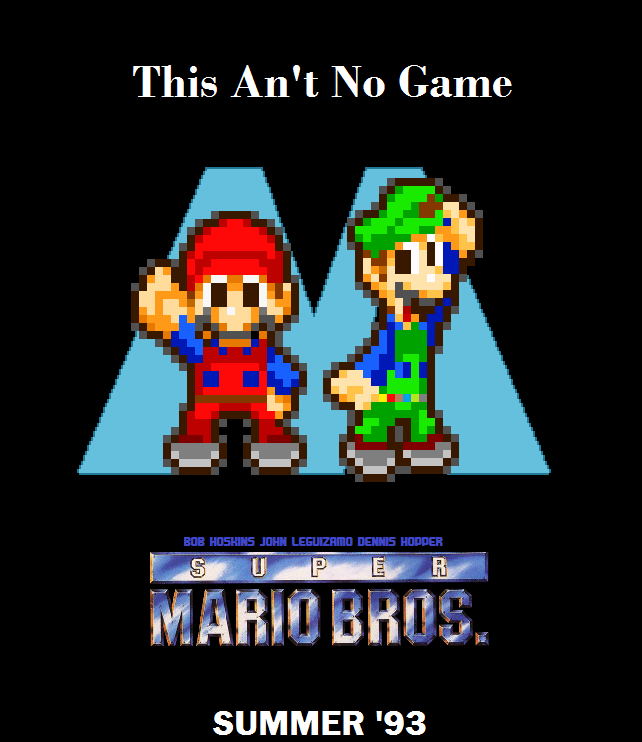 super mario bros the movie poster sprite version by