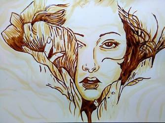 dibujo realizado con cafe liquido by frankogb17