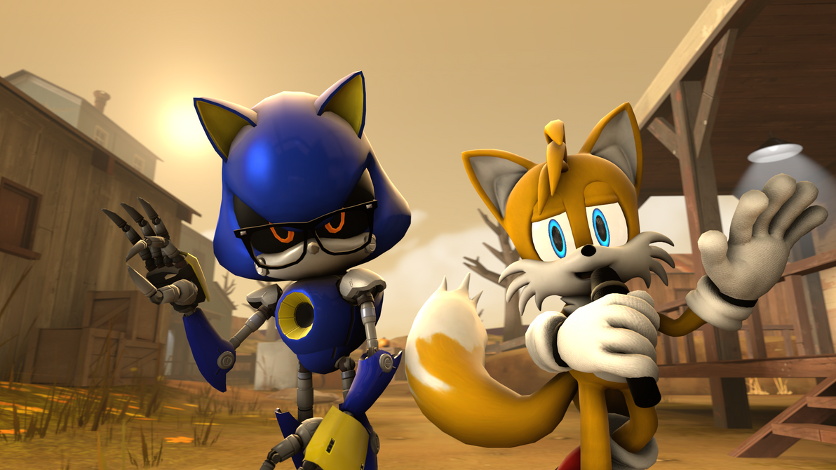 Metal Meme Sonic and Miles Emi Prower by G-ManMobius