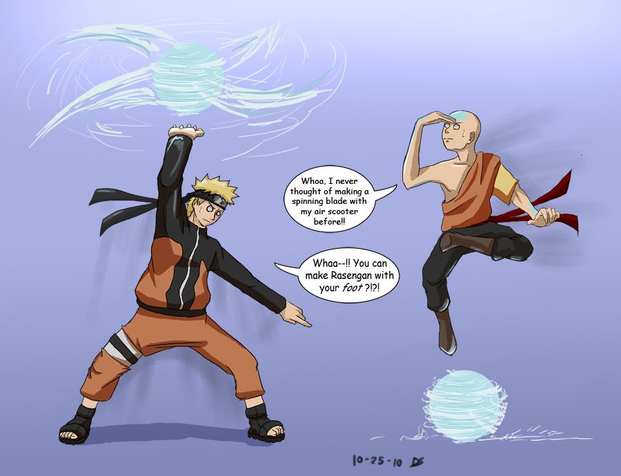 Naruto meets Aang by Dingostride on DeviantArt Naruto Vs Avatar