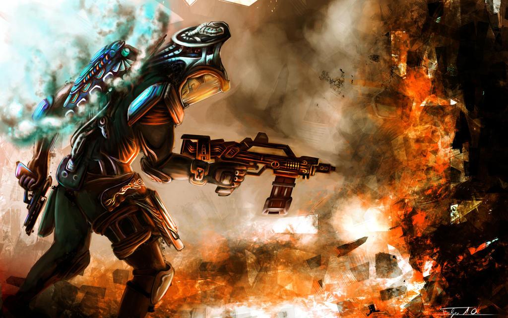 sci fi ranger by FelFortune