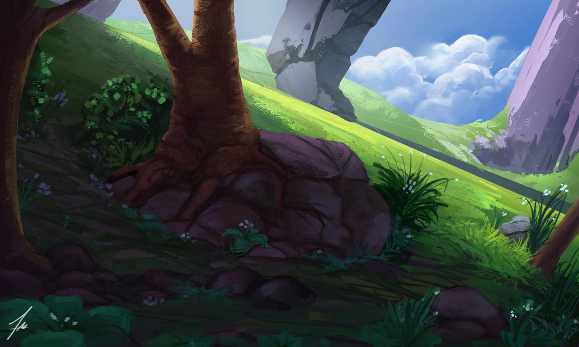 fantasy landscape practice by FelFortune
