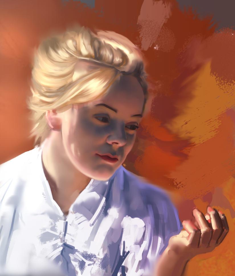 Portrait stock study by FelFortune