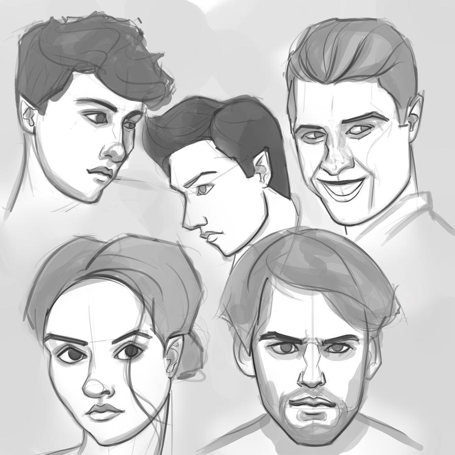 Portrait Skething 6_15 by FelFortune