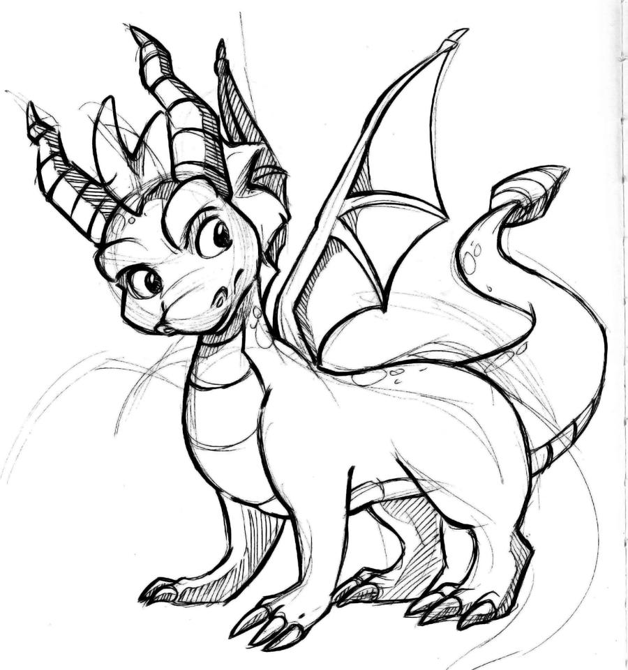 Spyro dragon printable coloring pages sketch coloring page for Spyro the dragon coloring pages