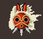 Trixel Princess Mononoke San mask by Adam-Grant