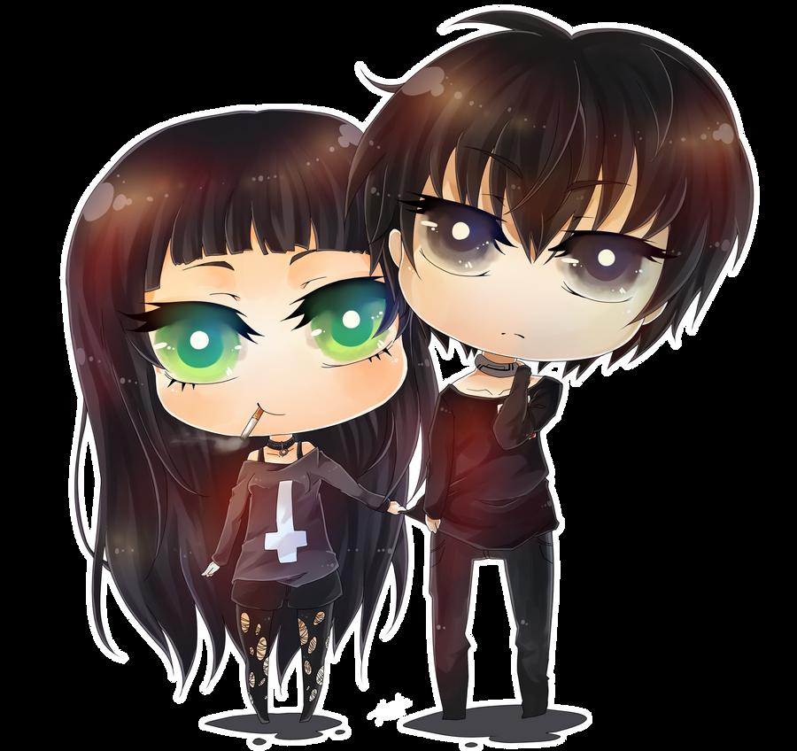 CC - Rie and Rokuro by Yu-nicorn