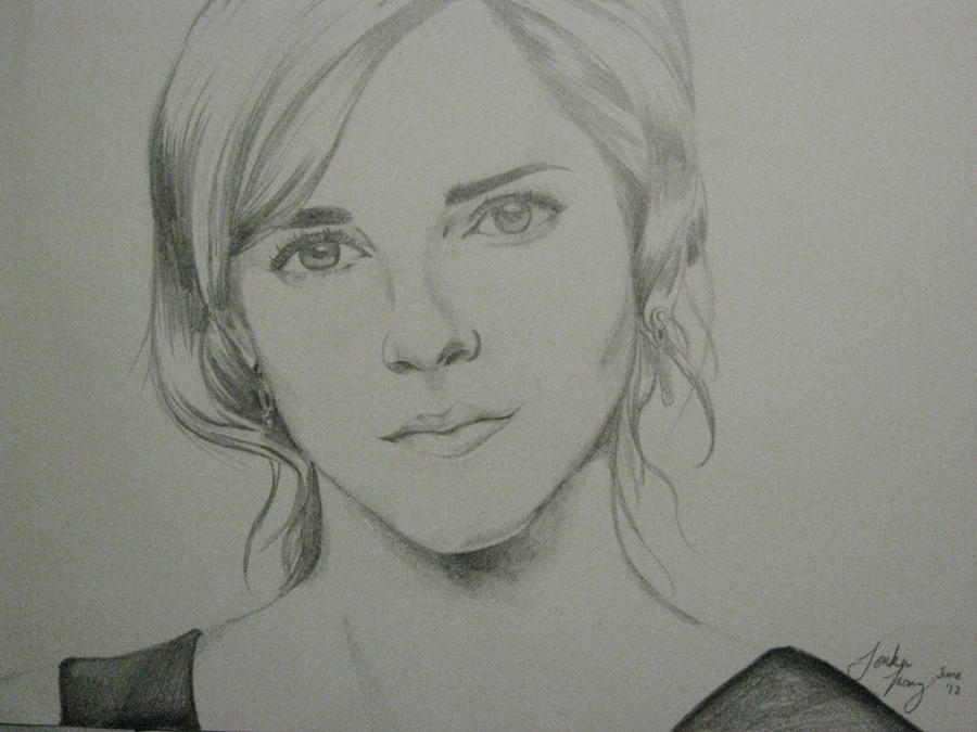 Pencil sketch of emma watson by ralosity