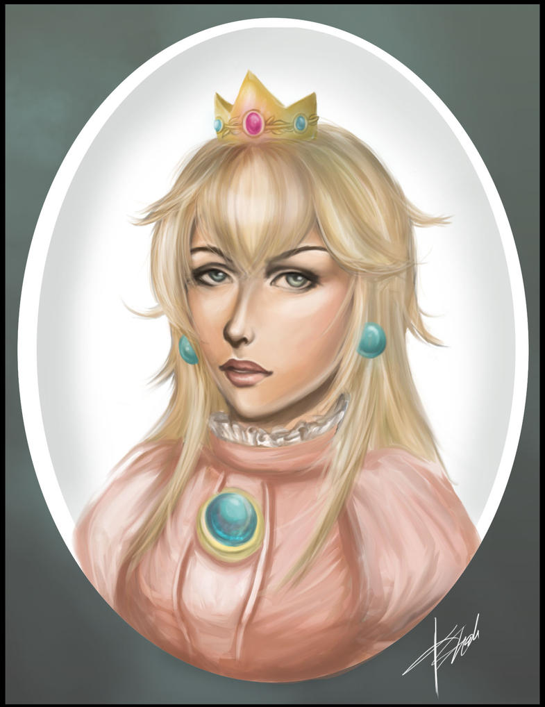 Princess Peach Portrait by kshah