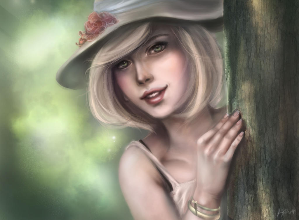 Lady in the Forest by kshah