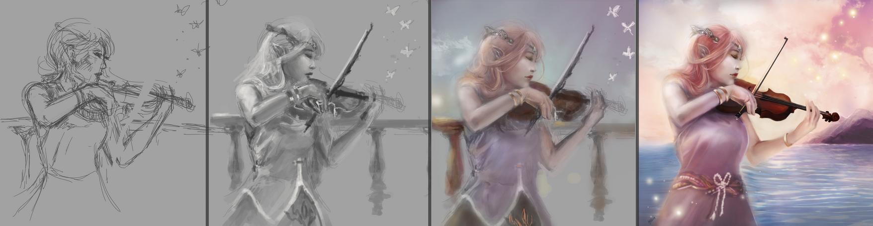 Violinist Progression Pic by kshah