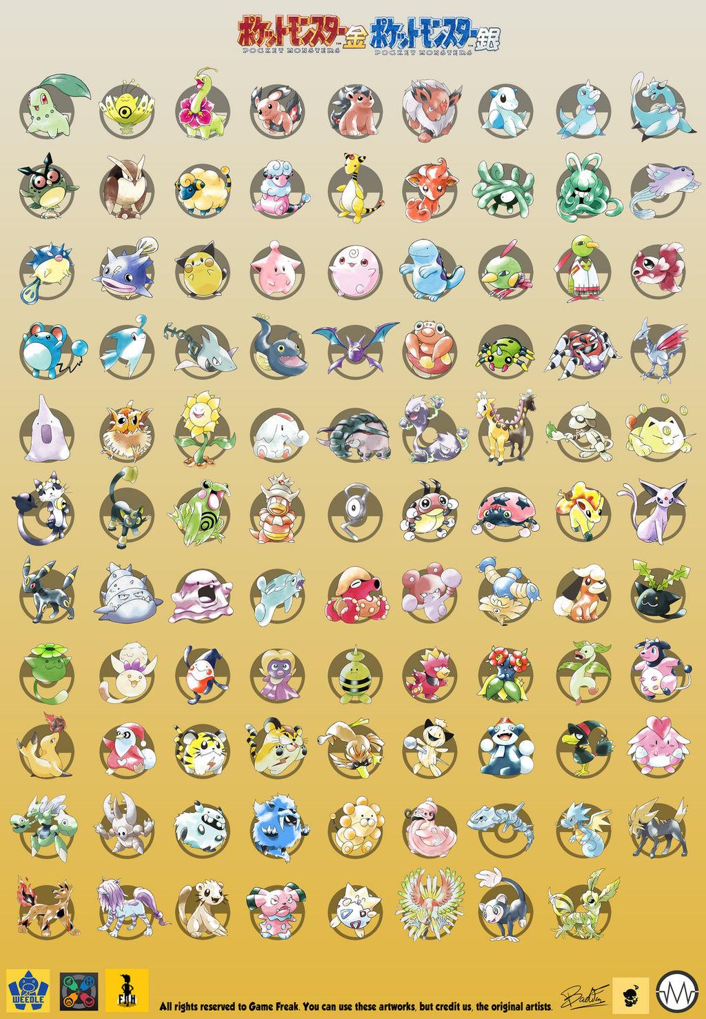 Pokemon Gold and Silver beta - FULL POKEDEX