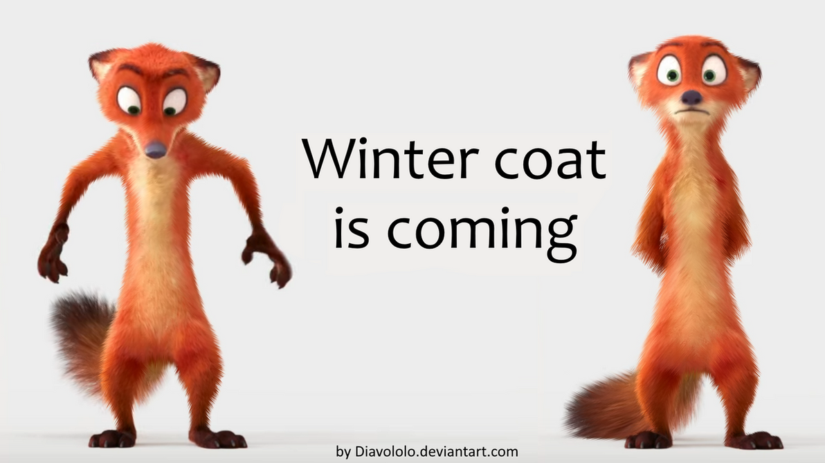 Winter coat is coming by Diavololo