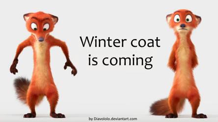 Winter coat is coming