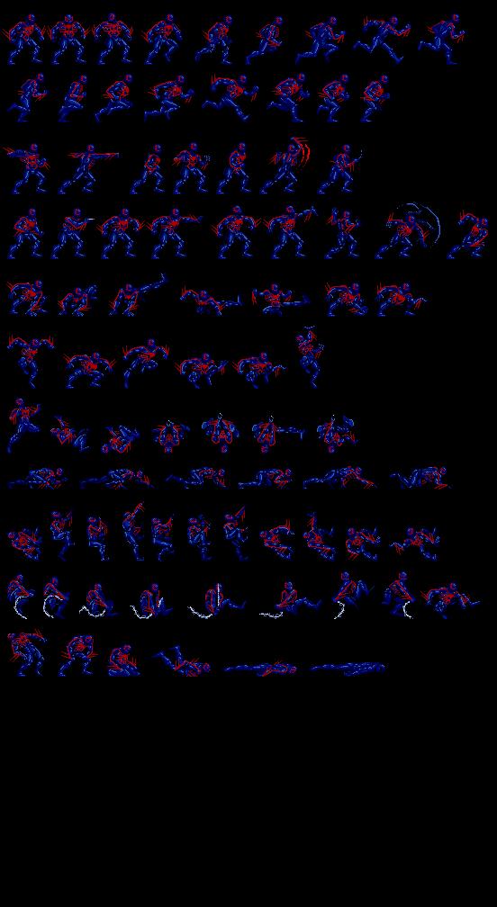Spider Man 2099 Sprite Sheet By Neytryno On Deviantart