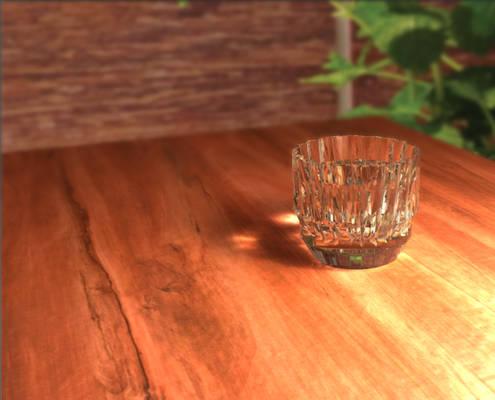 Glass + water