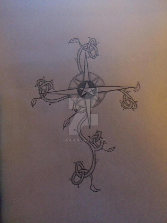Rose Vine Cross Tattoo by wolfiegirl12 on DeviantArt