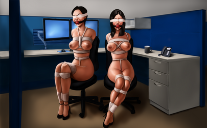 Commission - Office ladies! by EyeOnTheDrawings