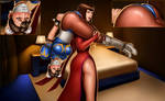 Commission - Anna Williams and Chun-Li by EyeOnTheDrawings