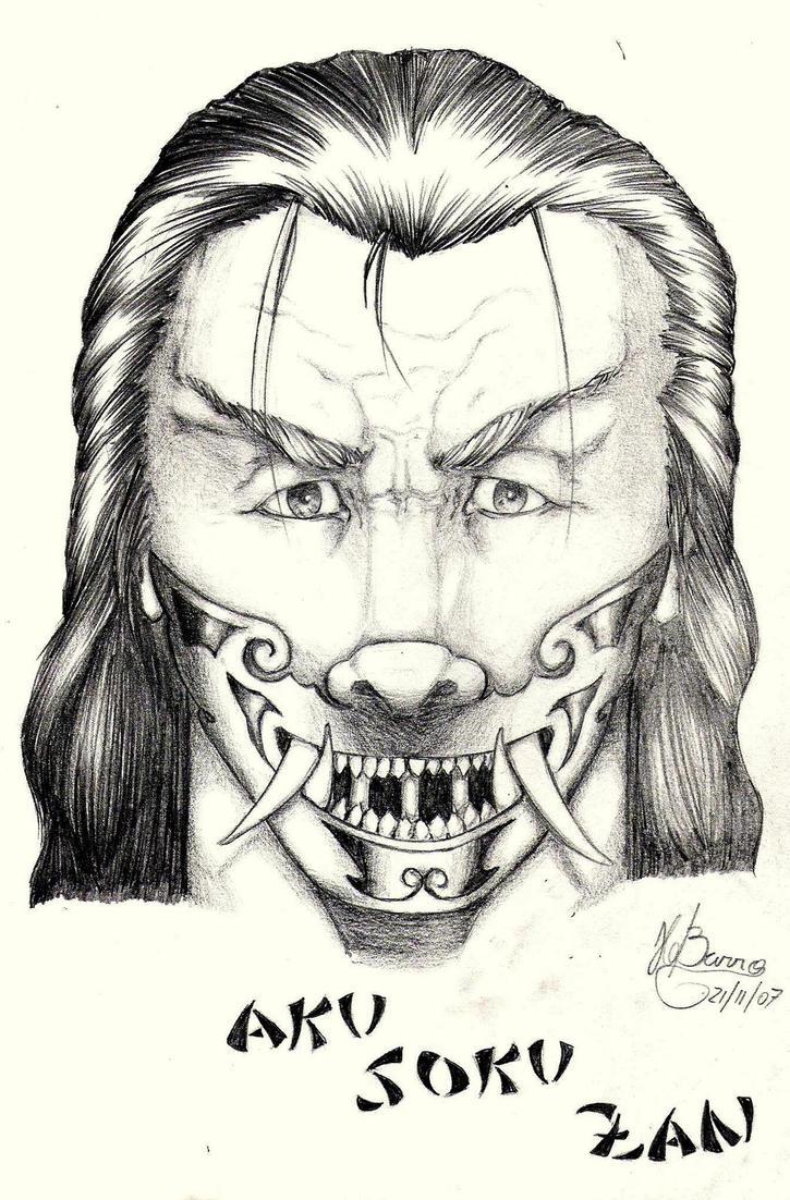 Samurai Face by hugofb87